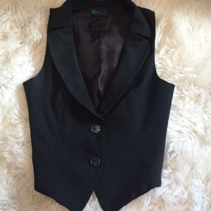 UNITED COLORS OF BENETTON dark gray vest
